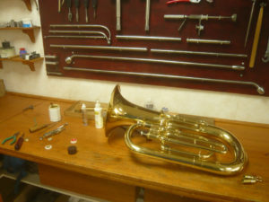 Réparation de trompette
